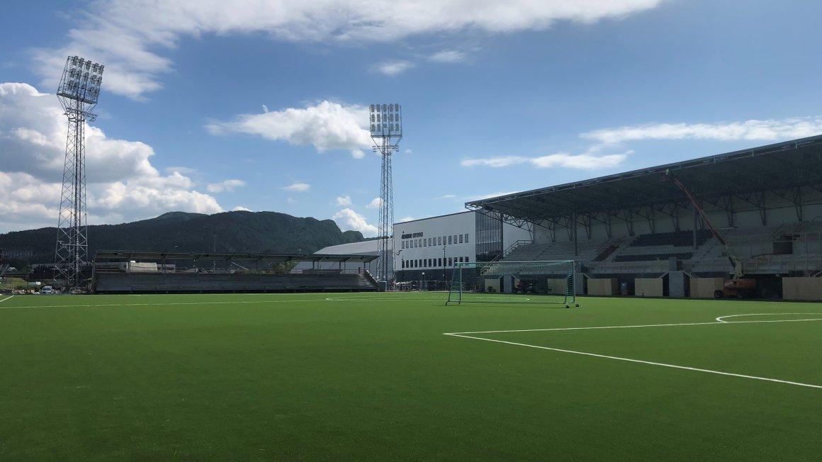 Slik ser Åsane Arena ut nå