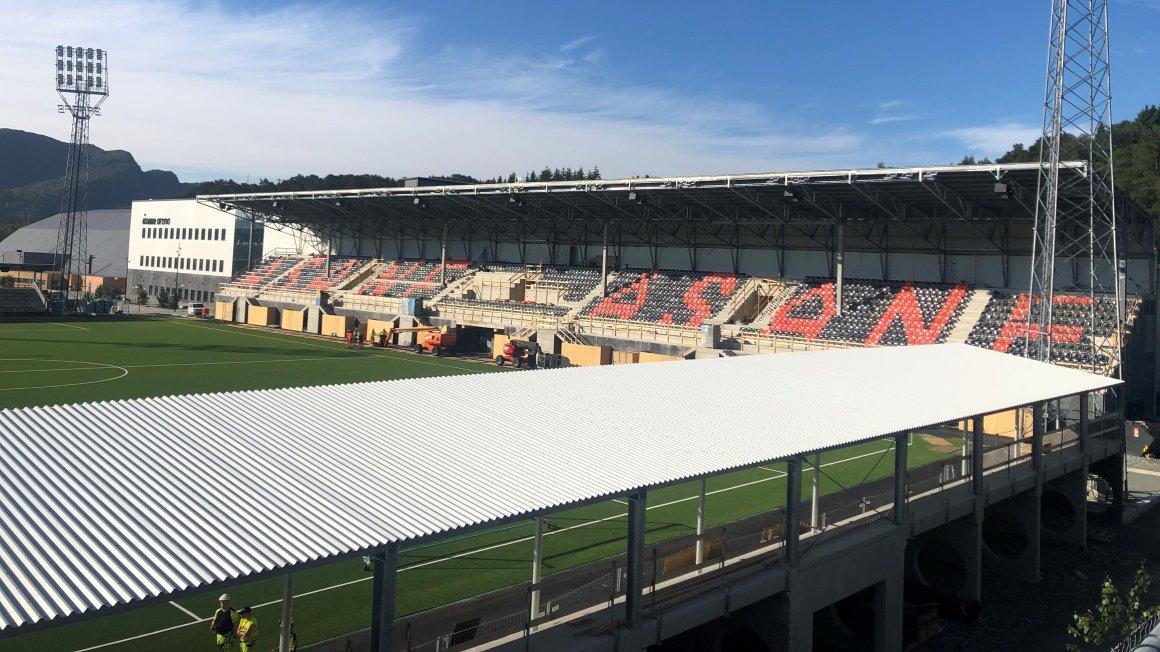 Åsane Arena er snart ferdig