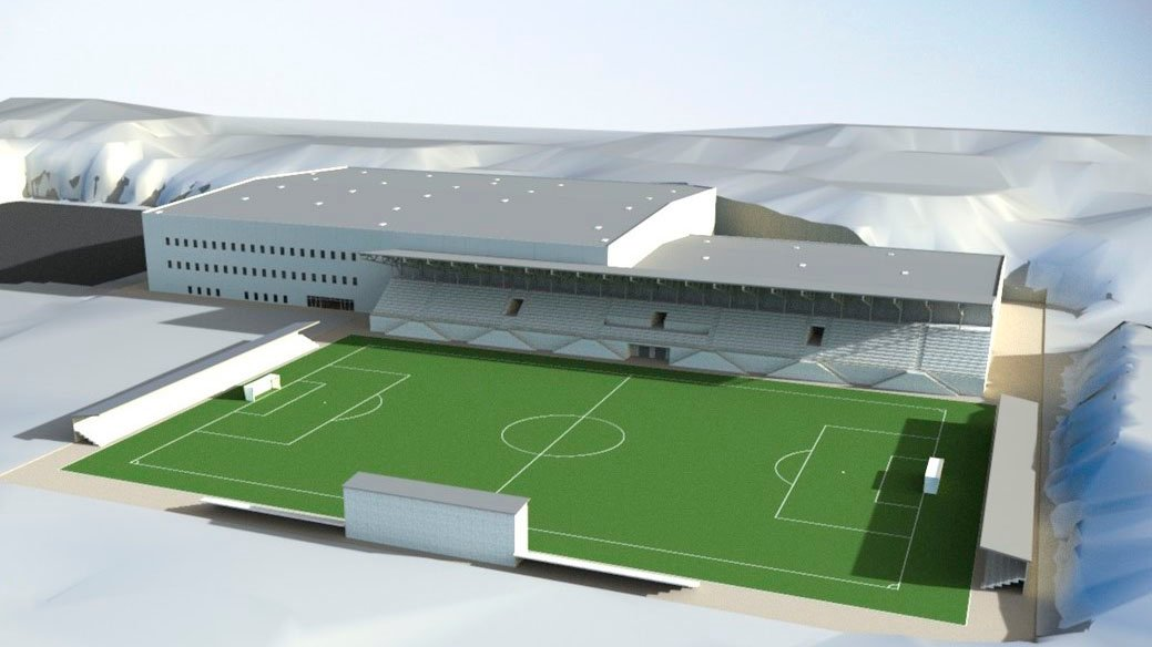 arena nord tegning fotball