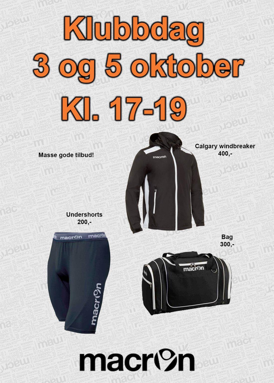 Invitasjon klubbdag okt 2017
